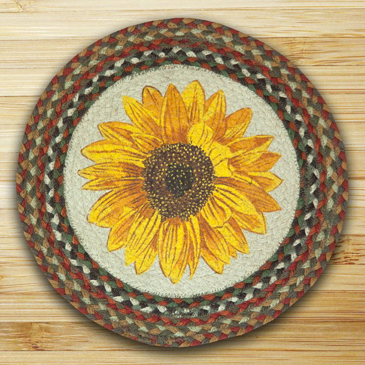 Sunflowers Jute Braided Round Chair Pad 300 Morning Star Home – Sunflower Chair Pads