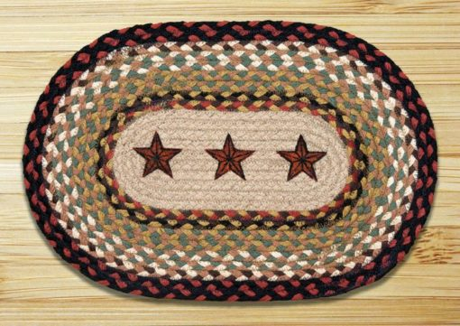 "Barn Stars MSP-19 Printed Oval Swatch 10"" x 15"""