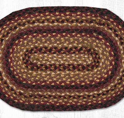Black Cherry Chocolate Cream 00-371 Oval Accent Mat 10x15