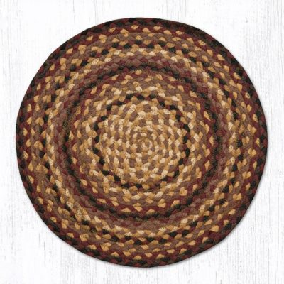 Black Cherry Chocolate Cream 20-CH371 Round Chair Pad 15.5x15.5