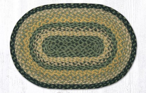 Black Mustard Cream 00-116 Oval Accent Mat 10x15