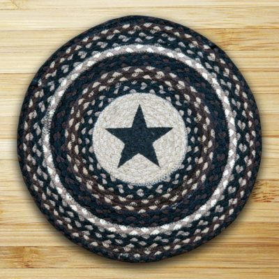 Black Stars 49-CH313BS Printed Chair Pad 15.5x15.5