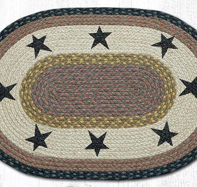 Black Stars 65-099S Oval Area Rug 20x30