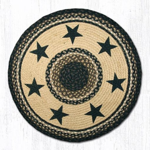 Black Stars 66-313BS 27 Round Area Rug 27x27