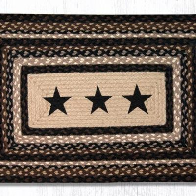 Black Stars 67-313BS 20x30 Rectangle Area Rug