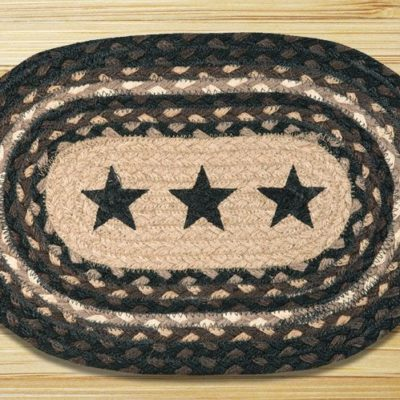 Black Stars 81-MSP313BS Printed Oval Swatch 10x15