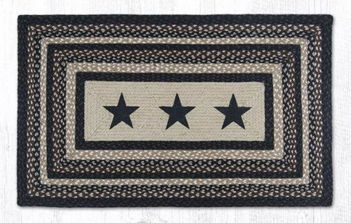 Black Stars 88-2745R-313BS Rectangle Area Rug 27x45