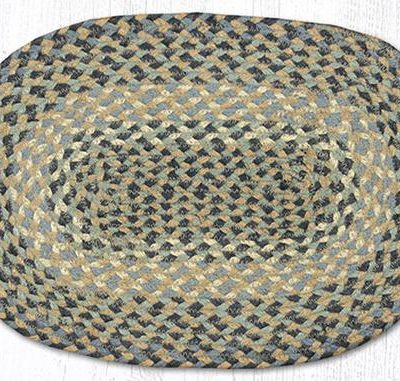 Blue Natural 00-005 Oval Accent Mat 10x15
