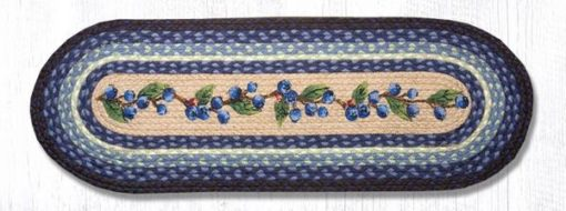 Blueberry Vine 68-312BV Oval Runner 13x36