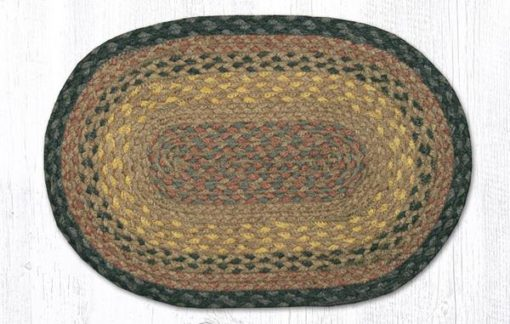 Brown Black Charcoal 00-099 Oval Accent Mat 10x15