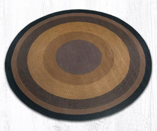 Brown Black Charcoal 17-099 Round 7.75'x7.75'