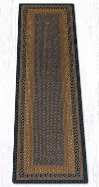 Brown Black Charcoal 25-099 Rectangle 2'x8'