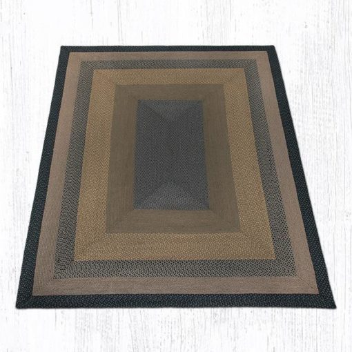 Brown Black Charcoal 28-099 Rectangle 8'x10'