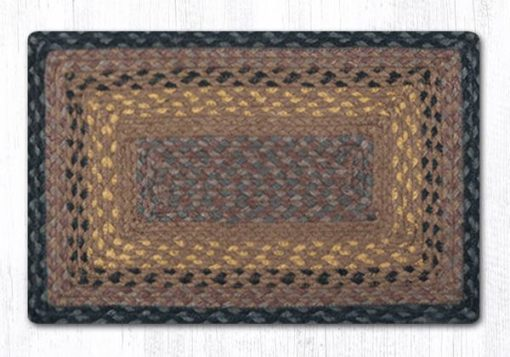 Brown Black Charcoal 47-099 Rectangle Accent Mat 10x15