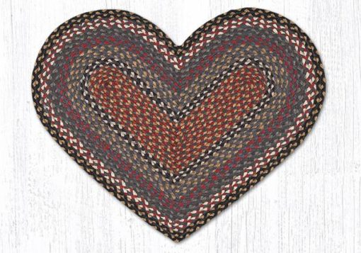 Burgundy Blue Gray 10-043 Heart 20x30