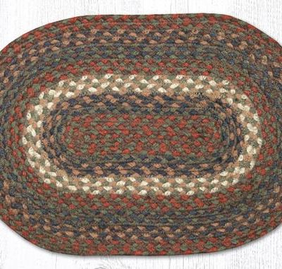 Burgundy Gray 00-040 Oval Accent Mat 10x15
