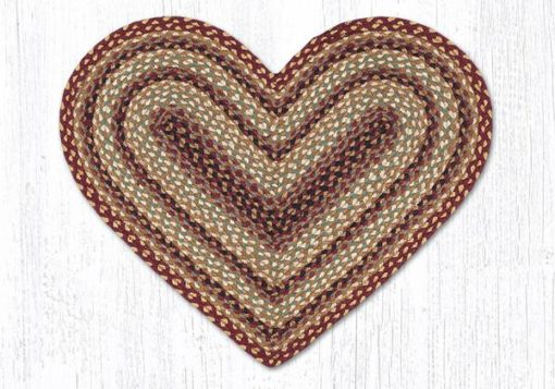 Burgundy Gray Cream 10-357 Heart 20x30