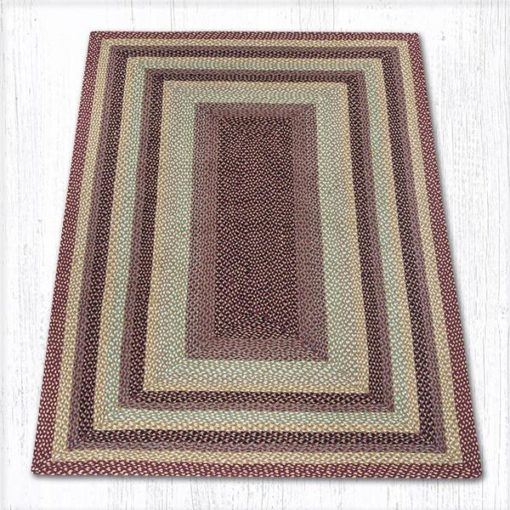 Burgundy Gray Cream 27-357 Rectangle 5'x8'
