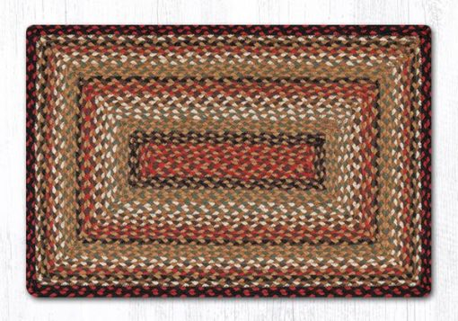Burgundy Mustard Ivory 22-319 Rectangle Area Rug 20x30
