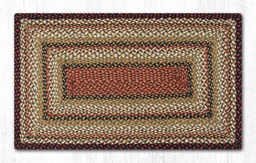 Burgundy Mustard Ivory 23-319 Rectangle Area Rug 27x45
