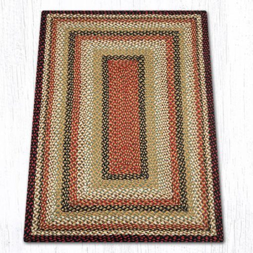 Burgundy Mustard Ivory 24-319 Rectangle Area Rug 3x5