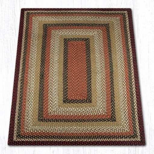 Burgundy Mustard Ivory 26-319 Rectangle Area Rug 4x6