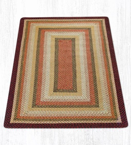 Burgundy Mustard Ivory 27-319 Rectangle Area Rug 5x8
