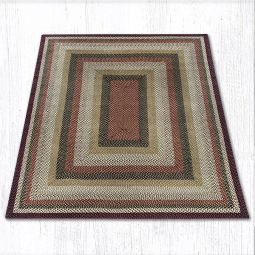 Burgundy Mustard Ivory 28-319 Rectangle Area Rug 8x10