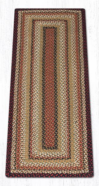 Burgundy Mustard Ivory 33-319 Rectangle Area Rug 2x6