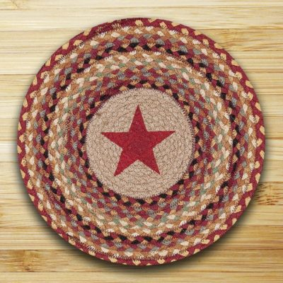 Burgundy Star 57-357BS Round Placemat 15x15