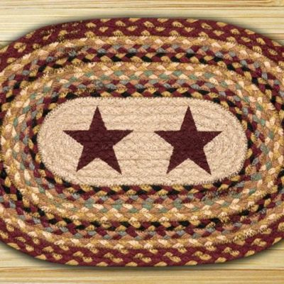 Burgundy Stars PM-OP-357 Oval Placemat 13x19