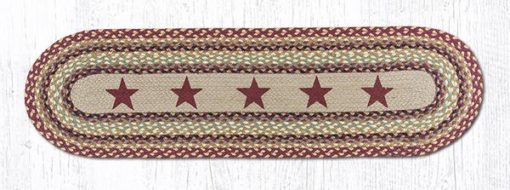 Burgundy Stars 64-357BS 13x48 Runner
