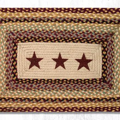 Burgundy Stars 67-357BS Rectangle Area Rug 20x30