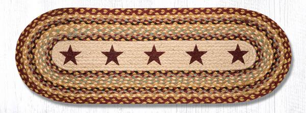 Burgundy Stars 68-357BS 13x36 Runner