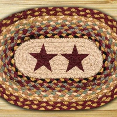 Burgundy Stars 81-357BS Printed Oval 10x15