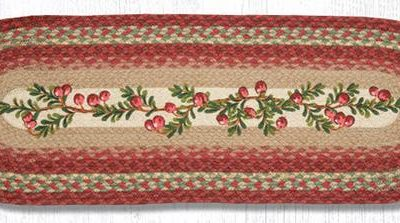 Cranberries 68-390C Oval Runner 13x36