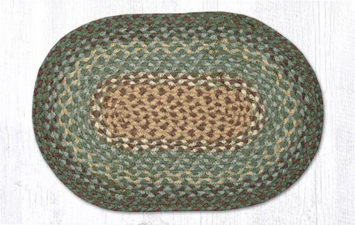 Dark Green 00-013 Oval Accent Mat 10x15