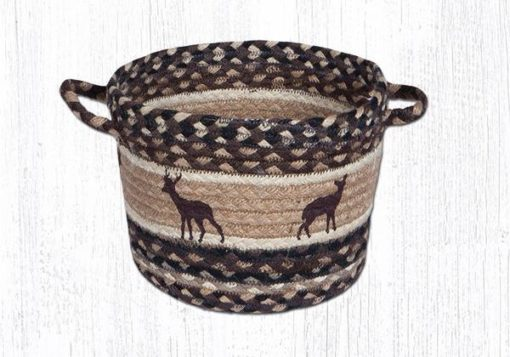 Deer Silhouette 38-UBPSM518DS Small Utility Basket 9x7