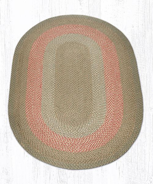Green Burgundy 07-009 5'x8' Oval