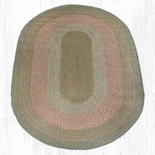 Green Burgundy 09-009 6'x9' Oval