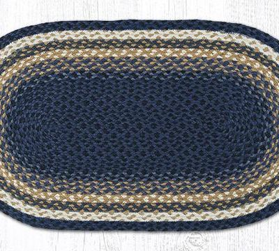 Light & Dark Blue Mustard 11-079 Oval 20x36