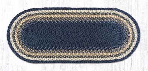 Light & Dark Blue Mustard 12-079 Oval 20x48