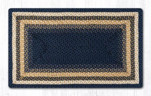 Light & Dark Blue Mustard 23-079 Rectangle 27x45