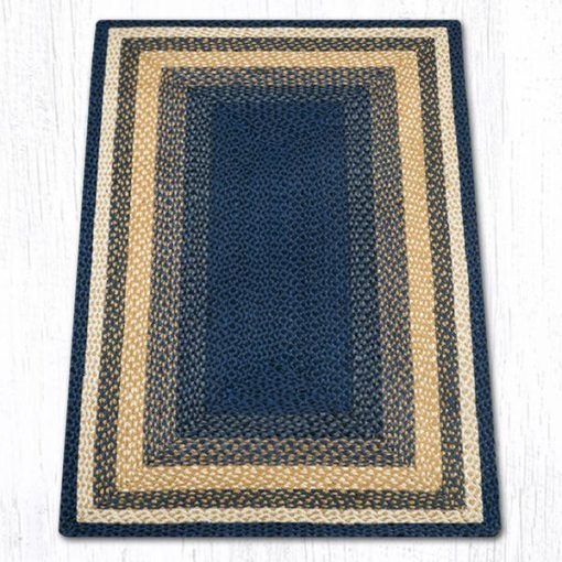 Light & Dark Blue Mustard 24-079 Rectanagle 3'x5'