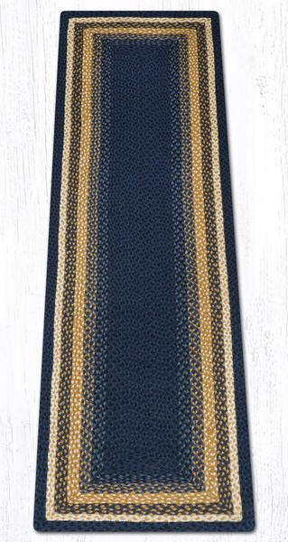 Light & Dark Blue Mustard 25-079 Rectangle 2'x8'