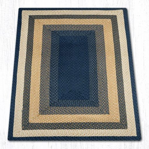Light & Dark Blue Mustard 26-079 Rectangle 4'x6'