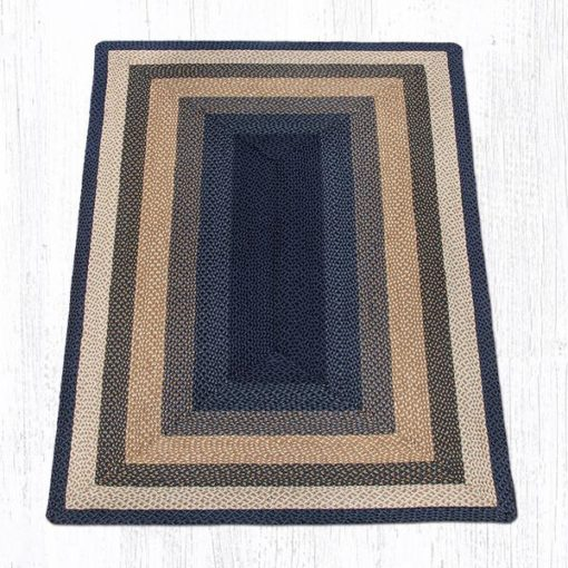 Light & Dark Blue Mustard 27-079 Rectangle 5'x8'