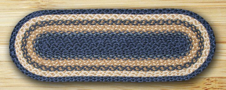 Light & Dark Blue Mustard 52-TR079 13x36 Runner