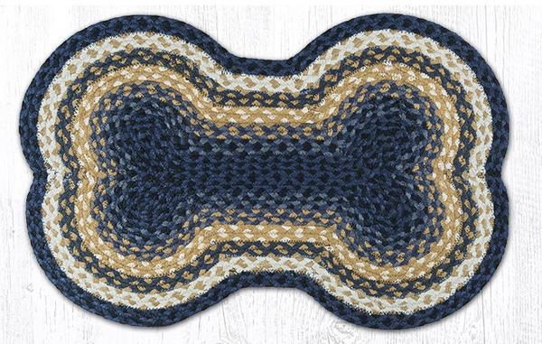 Light & Dark Blue Mustard 63-LG079DB Large Dog Bone 18x28