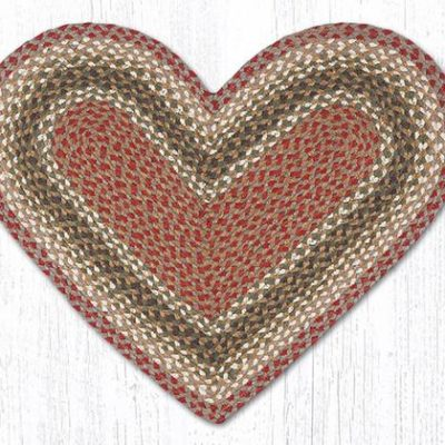 Olive Burgundy Gray 10-024 Heart 20x30